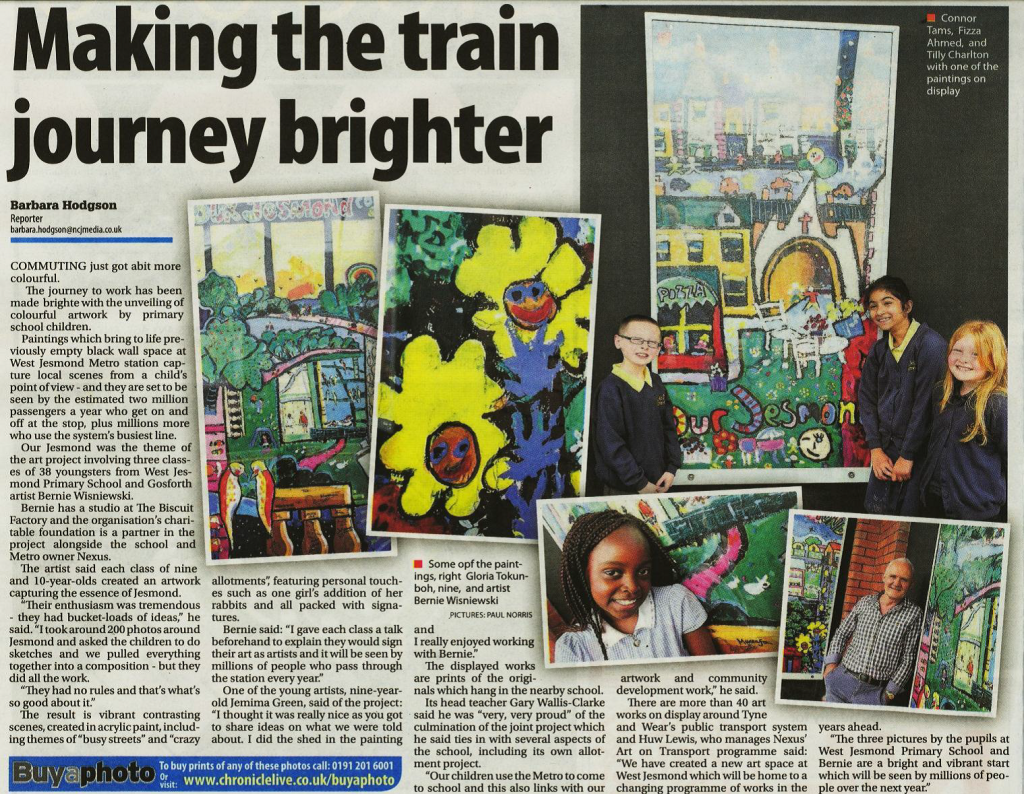 West Jesmond newspaper article